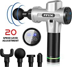 Massage Gun-Professional Deep Tissue Massager for Muscle Tension Relief,4 Massage Heads, 20-Speed Touch Screen Adjustment