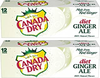 Canada Dry Ginger Ale Diet Soda, 12 Ounce (Pack of 24)