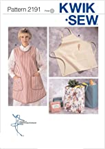 Kwik Sew Kerstin Martensson Designs Pattern 2191 Aprons and Multi-Purpose Cloth Bags in Two Sizes
