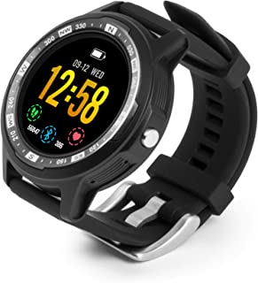 Technaxx Unisex - Adulto Smartwatch TX-SW3HR Fitness Tracker GPS Reloj Deportivo Podómetro Pulsómetro Negro M/L