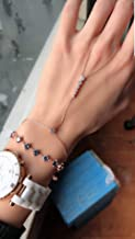 White Zircon Six Rounds Slave Bracelet Adjustable Hand Chain| 925 Sterling Silver
