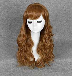 Women's Long Curly Flax Wig Party Costume Cosplay Wig