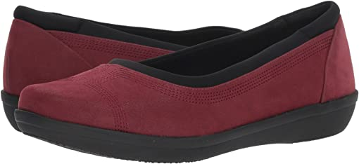 Burgundy Synthetic Nubuck