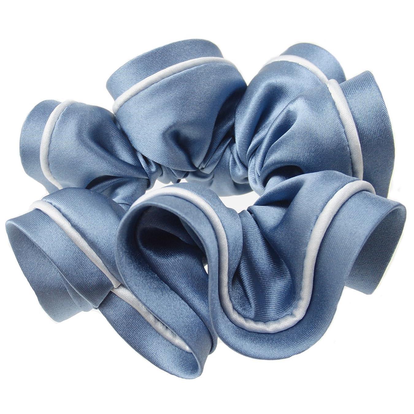 予報オレンジ工業化するhaglm557nnnbl ヘアアクセサリー 髪飾り (リトルムーン) 【シュシュ】 エレノア ブルー [ヘアアクセサリー [ジュエリー]