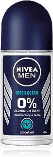 Nivea Men - Desodorante de bola Fresh Ocean 0% (1 x 50 ml), desodorante para hombre, protección 48 h, cuidado de hombre si...