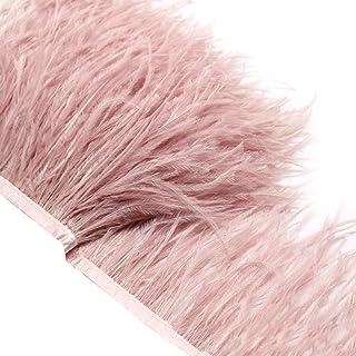 Adornos de flecos simulados Ultnice de 2 m con cinta de cinta de raso para vestimenta, manualidades, disfraces, decoración de bricolaje (rosa)