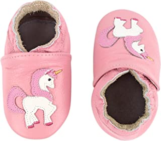 Unicorn Baby Moccasins Girl Soft Leather Toddler First Walker Shoes 0-36 Months