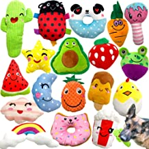 Sponsored Ad - Jalousie 18 Pack Dog Squeaky Toys Cute Stuffed Pet Plush Toys Puppy Chew Toys for Small Medium Dog Puppy Pe...