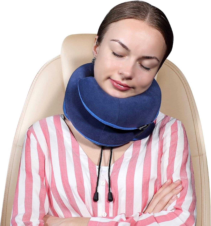 Hbaid Travel Selling rankings Pillow 100% Pure Sleeping Memory Boston Mall for Foam Airplane