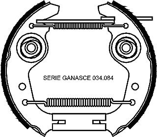 160/x 35 LAS 10700/ Tipo Elenco Ganasce del Freno S /Tassi per Alko