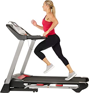 Sunny Health & Fitness Electric Folding Treadmill with LCD and Pulse Monitor, 265 LB Max Weight, Tablet Holder, Bluetooth Speakers and USB Charging - SF-T7917