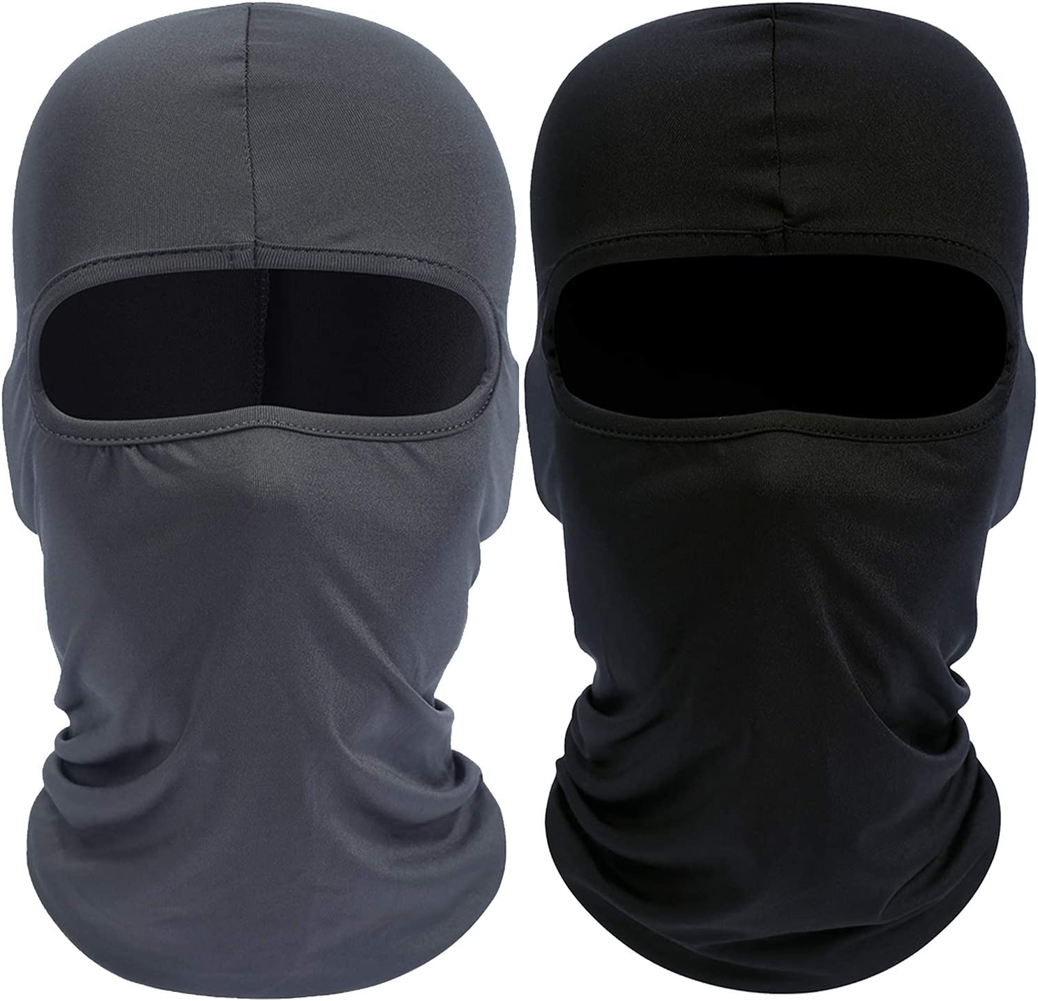 Your Choice Balaclava Face Mask Cold Weather Winter Mask,Set of 2 Black and Grey