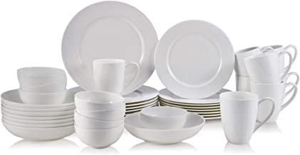 Mikasa Annabele Chip Resistant 40-Piece Dinnerware Set, Service For 8, White