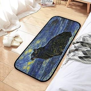 CaTaKu Van Gogh Tapis en peluche souple et antidérapant pour porte de maison 39 x 20 cm