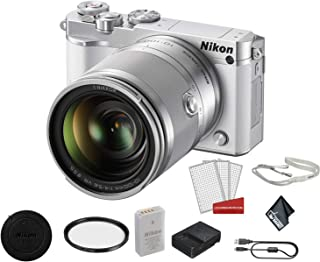 Nikon 1 J5 Mirrorless Digital Camera Kit with 10-100mm Lens | Full HD 1080p/60 Video| Bundle with Carrying Case + UV Filter + More- International Model