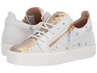 Giuseppe Zanotti G-Heel Ankle Boot (White/Gold) Women