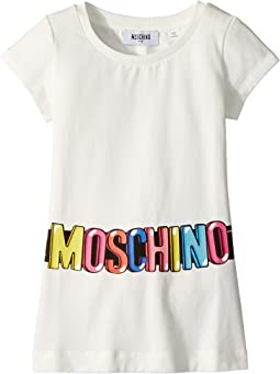 Moschino Kids - Short Sleeve Tunic w/ Logo Belt Graphic (Little Kids/Big Kids)