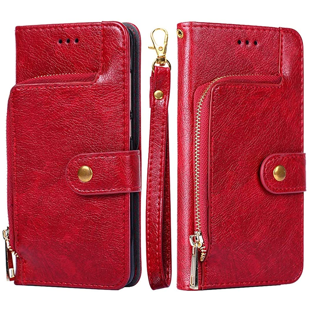 Torubia [ Portable Wallet [ Slim Fit ] Heavy Duty Protective Back case Flip Cover Wallet Case Replacement for Asus Zenfone Max (M2) ZB633KL - Red