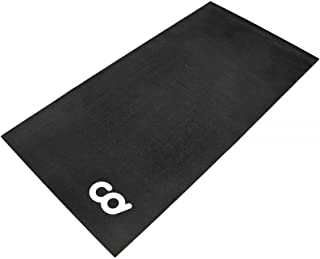 CyclingDeal Bicycle Trainer Hardwood Floor Carpet Protection Workout Mat for Indoor Cycle- Stationary Bike - for Peloton S...