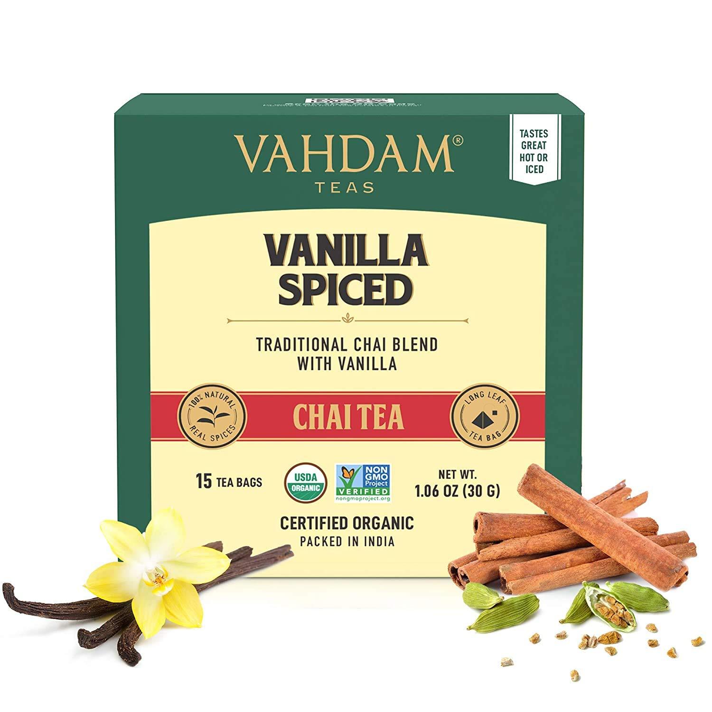 VAHDAM Vanilla Chai Tea 2021new shipping free Max 53% OFF 30 Bags 2 of RELIE STRESS Set