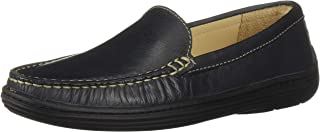 Driver Club USA Kids' Leather Boys/Girls Casual Comfort Slip on Moccasin Venetian Loafer Driving Style