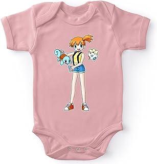 Body bébé Manches Courtes Filles Rose Parodie Pokémon - Carapuce, Ondine et Togepi - Carafapuce. :(Body bébé de qualité s...