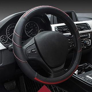 HCMAX Universal Auto Lenkradbezug, Prämie Auto Lenkradhülle Durchmesser 38CM /15' Anti Rutsch Lenkradabdeckung Lenkradschoner Schwarz