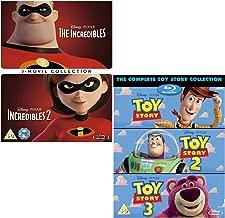 Incredibles I and II (Complete) - Toy Story I - III (Complete) - Walt Disney 2 Movie Bundling Blu-ray