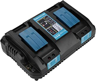 DC18RD 18VA Smart Battery Dual-port Snel Geoptimaliseerde Oplader, 2-poorts(Blauwe EU)
