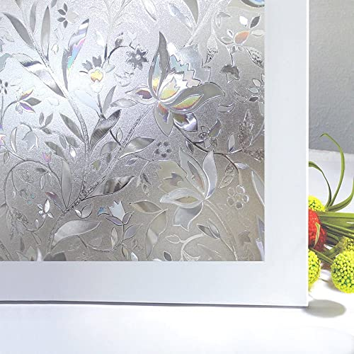 Niviy Etched Lace Window Film Static Window Cling Glass Door Decals Frosted  Glass Window Clings For