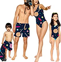 YT couple Family One Piece Candy Swimwear Mommy&Me Bathing Suit Daddy&Me Swim Shorts