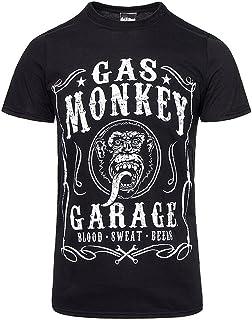 Gas Monkey Garage Flourish T shirt schwarz offiziell zugelassen