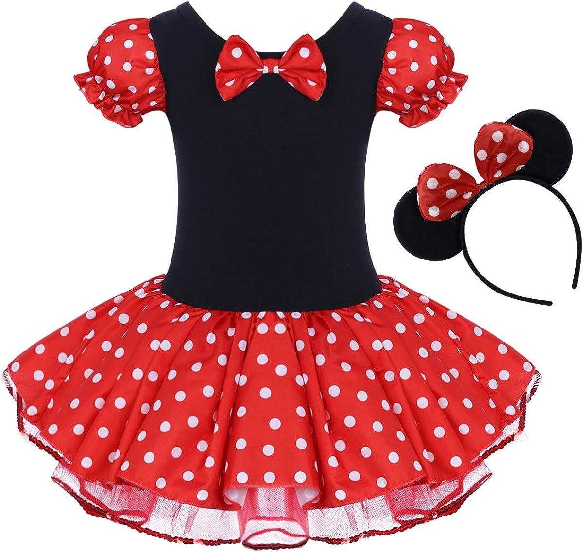 IBTOM CASTLE Toddler Max 74% OFF Girl Polka Dots Tutu Party Dr Costume Fancy Overseas parallel import regular item