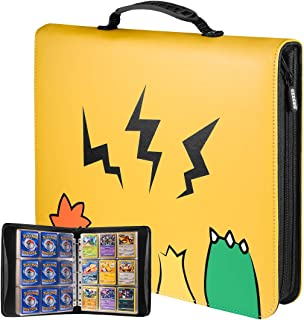 Geecow 9-Pocket Binder Compatible with Pokemon Cards, Portable Storage Case with Removable Sheets Holds Up to 900 Cards-To...