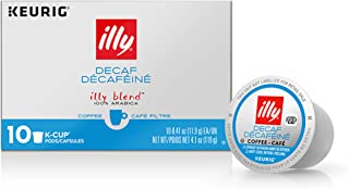 Illy Coffee, Decaf Medium Roast, K Cup for Keurig, 100% Arabica Bean Signature Italian Blend, Premium Gourmet Roast Single...