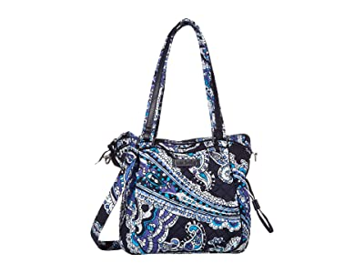 Vera Bradley Iconic Mini Glenna Satchel (Deep Night Paisley) Bags