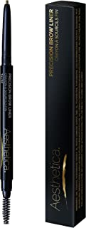 Aesthetica Precision Brow Liner - Eyebrow Pencil/Spoolie Brush (Taupe)