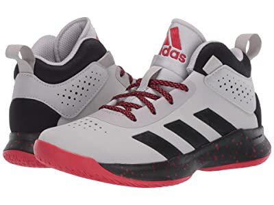 adidas Kids Cross Em Up 5 Basketball (Little Kid/Big Kid) (Grey Two/Core Black/Scarlet) Kids Shoes
