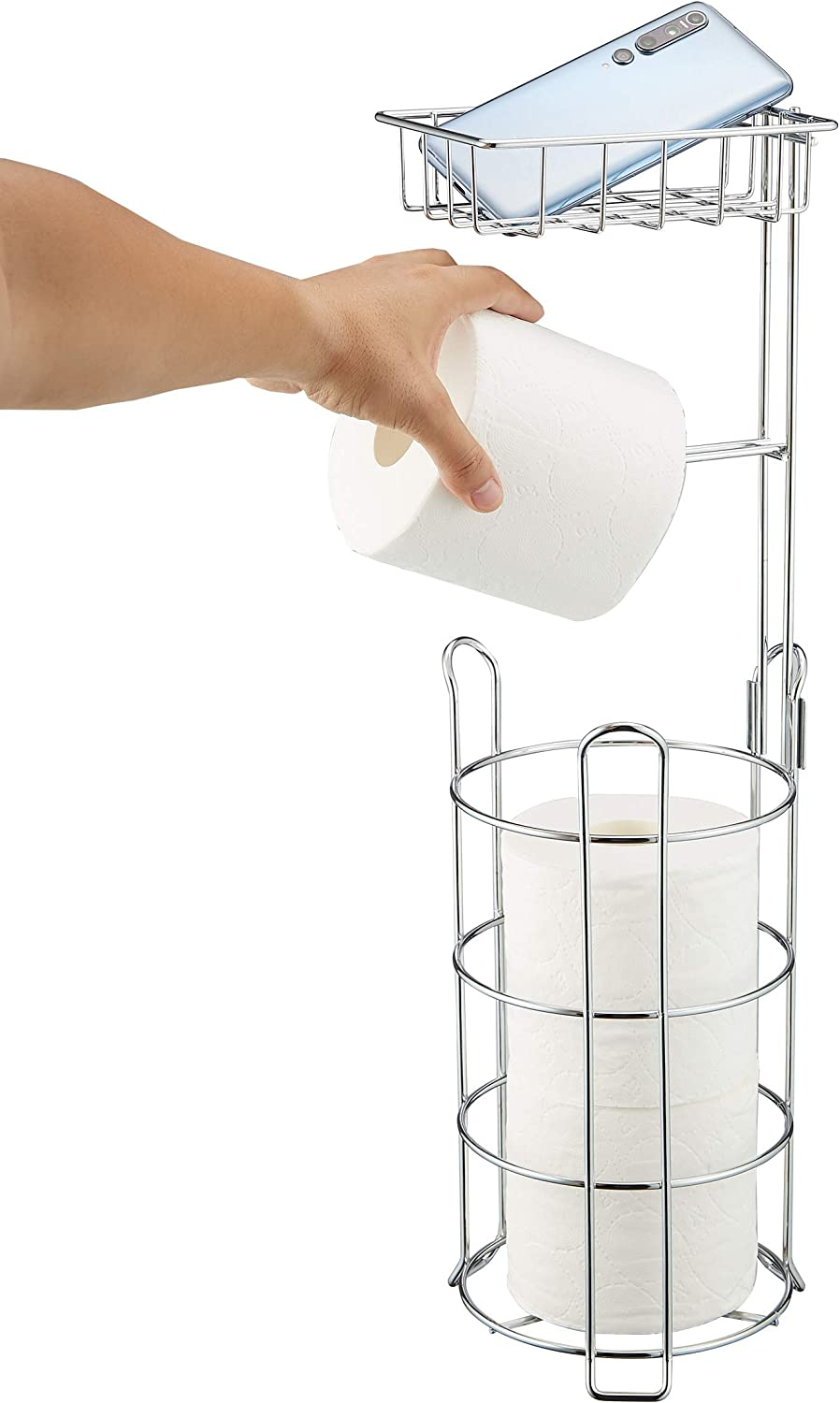 Toilet Paper Holder Free Financial Easy-to-use sales sale Standing Roll Tissue Holders Bathroom