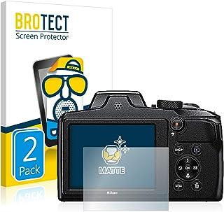 2 Unidades Pelicula Mate Anti-Huellas BROTECT Protector Pantalla Anti-Reflejos Compatible con Sony Cyber-Shot DSC-W830