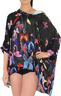 FeelMeStyle Loose T Shirts Half Sleeve Blouse Dolman Chiffon Oversized Tops