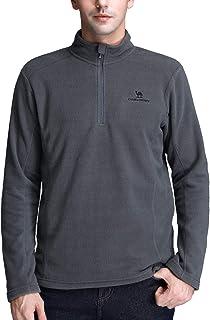 Camel Crown Half Zip Fleece Jacket Men Long Sleeve Pullover Lightweight Outdoor Sweatshirt