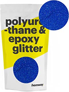 Hemway Metallic Glitter Floor Crystals for Epoxy Resin Flooring (500g) Domestic, Commercial, Industrial - Garage, Basement - Can be used with Internal & External (Sapphire Blue Holographic)