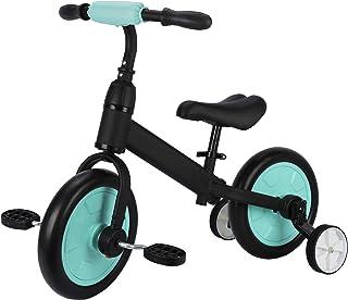 Sfeomi Bicicleta de Equilibrio para Niños 12 Pulgadas Bici para Niños con Pedales Desmontables Bicicleta de Equilibrio Infantil con Rueda Auxiliar