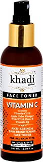 Khadi Global Vitamin C & Apple Cider Vinegar Face Toner With Witch Hazel & Vitamin B3 Anti-Ageing & Skin Brightening Alcohol Free Face Toner Best Vitamin C Face Toner | Skin Fairness Toner 100ml