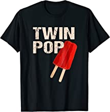 Twin Pop Shirt Gift for Grandpa Twins Dad TShirt Fathers Day