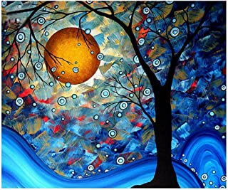 eGoodn Diamond Painting Full Drill Kit DIY Craft Wall Decor Art, Canvas 19.7 inches by 15.8 inches, Dream Tree by Van Gogh, No Frame