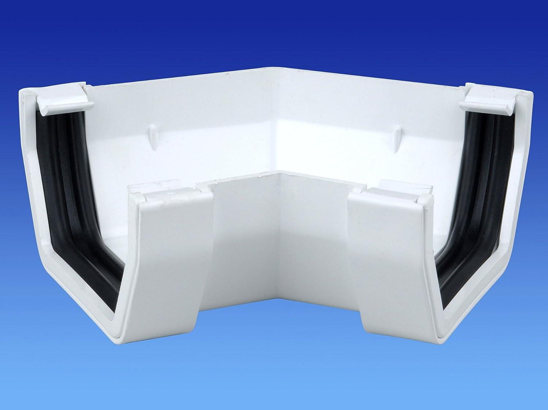 Wavin OSMA 4t826/Offset blanc Bend//Coude// Embout m/âle pour 61/MM carr/é downpipes