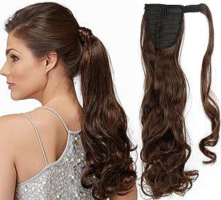 Przedłużanie włosów, 43 - 66 cm koński ogon, kręcone, falowane włosy, klipsy jednoczęściowe owijane wokół treski, długie, ...