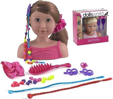 Dolls World Ashley Head Play set (Color may vary)